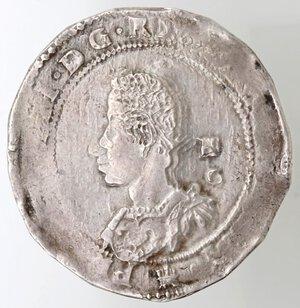 obverse: Napoli. Filippo III. 1598-1621. Mezzo Ducato s.d. Ag.