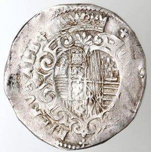 reverse: Napoli. Filippo III. 1598-1621. Mezzo Ducato s.d. Ag.