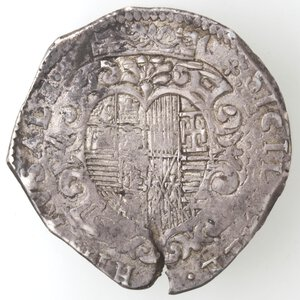 reverse: Napoli. Filippo III. 1598-1621. Mezzo Ducato 1609. Ag.