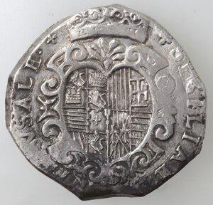 reverse: Napoli. Filippo III. 1598-1621. Mezzo Ducato 1909 invece di 1609. Ag.