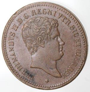 obverse: Napoli. Ferdinando II. 1830-1859. 5 Tornesi 1831. Ae.