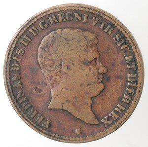 obverse: Napoli. Ferdinando II. 1830-1859. 5 Tornesi 1833. Ae.