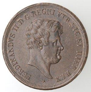 obverse: Napoli. Ferdinando II. 1830-1859. 5 Tornesi 1851. Ae.