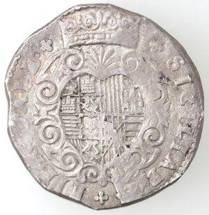 reverse: Napoli. Filippo III. 1598-1621. Mezzo Ducato 0I6I invece di 1610. Ag.