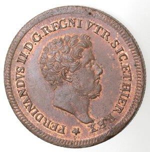 obverse: Napoli. Ferdinando II. 1830-1859. 3  Tornesi 1842. Ae.
