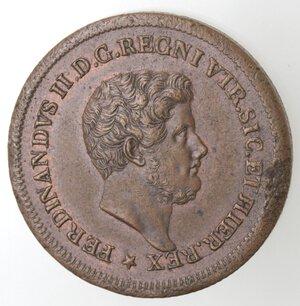 obverse: Napoli. Ferdinando II. 1830-1859. 3  Tornesi 1847. Ae.