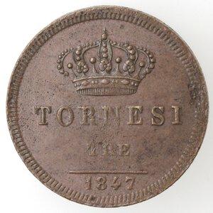 reverse: Napoli. Ferdinando II. 1830-1859. 3  Tornesi 1847. Ae.