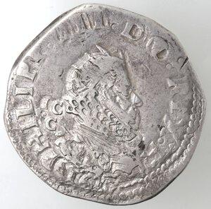 obverse: Napoli. Filippo III. 1598-1621. Mezzo Scudo 1617. Ag.