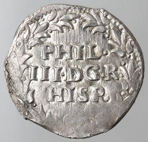 obverse: Napoli. Filippo III. 1598-1621. 3 Cinquine. Ag.