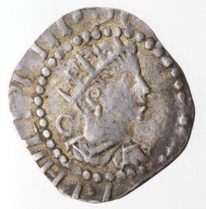 obverse: Napoli. Filippo III. 1598-1621. Mezzo Carlino. Ag. Mag. manca.
