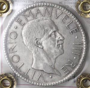 obverse: Vittorio Emanuele III. 1900-1943. 20 Lire 1928 Littore. Ag.
