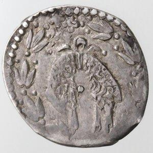 reverse: Napoli. Filippo III. 1598-1621. Mezzo Carlino. sigle GF dietro la testa e I GF sotto la testa.Ag.