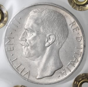 obverse: Vittorio Emanuele III. 1900-1943. 10 Lire 1929 Biga due rosette. Ag.