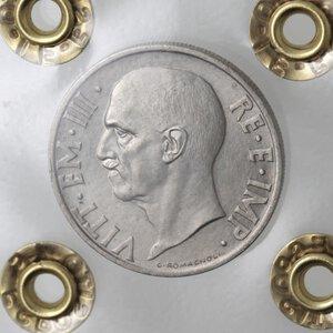 obverse: Vittorio Emanuele III. 1900-1943. 20 centesimi 1936. Ni.