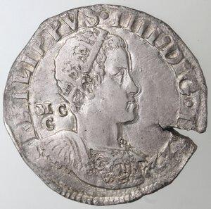 obverse: Napoli. Filippo IV. 1621-1665.Mezzo Ducato 1622.Ag.