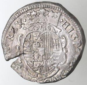 reverse: Napoli. Filippo IV. 1621-1665.Mezzo Ducato 1622.Ag.