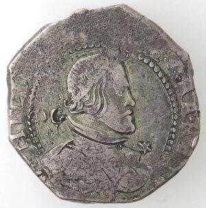 obverse: Napoli. Filippo IV. 1621-1665.Mezzo Ducato 1648.Ag.