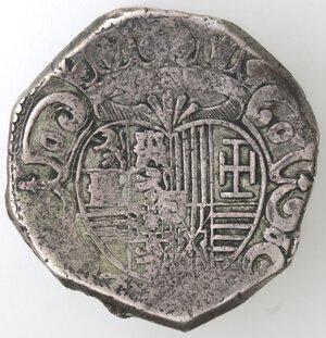 reverse: Napoli. Filippo IV. 1621-1665.Mezzo Ducato 1648.Ag.