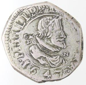 obverse: Napoli. Filippo IV. 1621-1665.3 Carlini 1647.Ag.