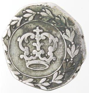 reverse: Napoli. Filippo IV. 1621-1665.3 Carlini 1647.Ag.