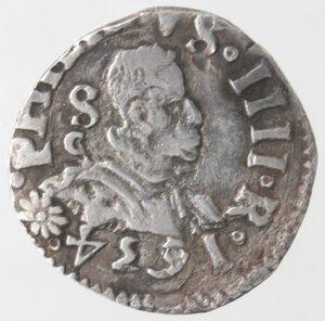 obverse: Napoli. Filippo IV. 1621-1665. Carlino 1634. Ag.