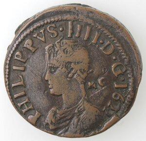 obverse: Napoli. Filippo IV. 1621-1665.Pubblica 1622.Ae.