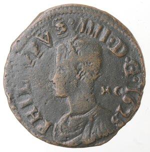 obverse: Napoli. Filippo IV. 1621-1665. Pubblica 1623. Ae.