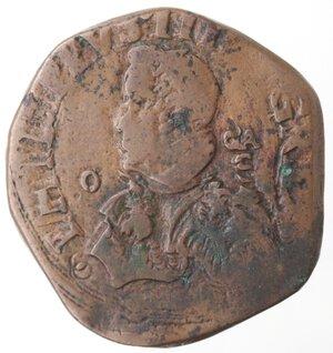 obverse: Napoli. Filippo IV. 1621-1665.Grano 1637.Ae.