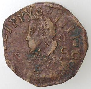 obverse: Napoli. Filippo IV. 1621-1665.Grano. Ae.
