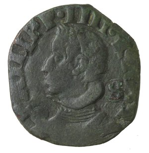 obverse: Napoli. Filippo IV. 1621-1665. 3 Cavalli 1632. Ae.