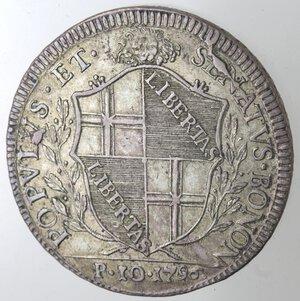 obverse: Bologna. Governo Popolare. 1796-1797. Scudo da 10 Paoli 1796. Ag.