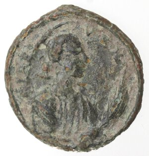 reverse: Napoli. Medaglietta votiva. XV-XVI sec. San Gennaro, Santa Lucia?. Ae.
