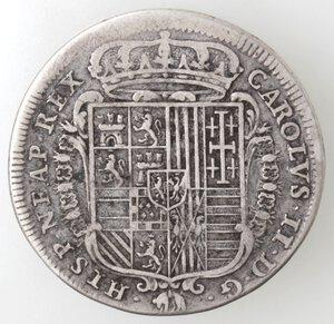 obverse: Napoli. Carlo II. 1674-1700. Tarì 1683. ISTIS. Ag.