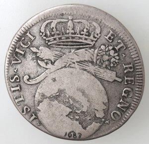 reverse: Napoli. Carlo II. 1674-1700. Tarì 1683. ISTIS. Ag.