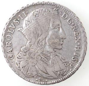 obverse: Napoli. Carlo II. 1674-1700. Ducato 1689. Senza le sigle. Ag.