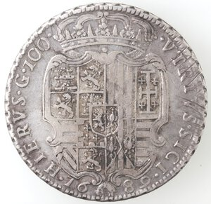 reverse: Napoli. Carlo II. 1674-1700. Ducato 1689. Senza le sigle. Ag.