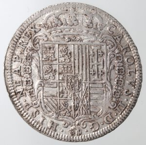 obverse: Napoli. Carlo II. 1674-1700. Tarì 1684. Ag.