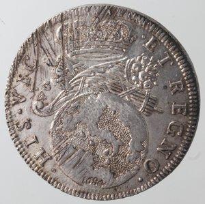 reverse: Napoli. Carlo II. 1674-1700. Tarì 1684. Ag.