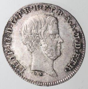 obverse: Firenze. Leopoldo II. 1824-1859. Mezzo Paolo 1857. Ag.