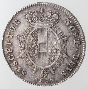 reverse: Firenze. Leopoldo II. 1824-1859. Mezzo Paolo 1857. Ag.