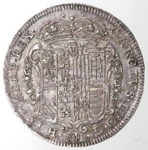 obverse: Napoli. Carlo II. 1674-1700. Tarì 1684. Mascherone. Ag.