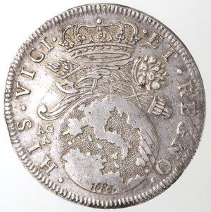 reverse: Napoli. Carlo II. 1674-1700. Tarì 1684. Mascherone. Ag.