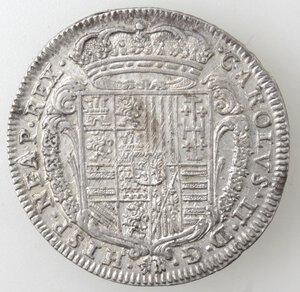 obverse: Napoli. Carlo II. 1674-1700. Tarì 1686. Ag.