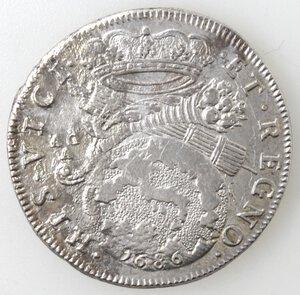 reverse: Napoli. Carlo II. 1674-1700. Tarì 1686. Ag.