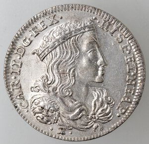 obverse: Napoli. Carlo II. 1674-1700. Tarì 1692. Ag.