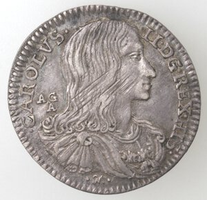 obverse: Napoli. Carlo II. 1674-1700. Carlino 1689. Ag.