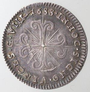 reverse: Napoli. Carlo II. 1674-1700. 8 Grana 1688. Ag.