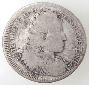 obverse: Napoli. Filippo V. 1700-1707. Tarì 1701. Senza sigle. Ag.