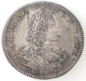 obverse: Napoli. Carlo VI. 1711-1734. Mezzo Ducato 1715. Ag.
