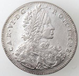 obverse: Napoli. Carlo VI. 1711-1734. Mezzo Ducato 1716. Ag.